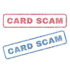 Card scam textile stamps vector