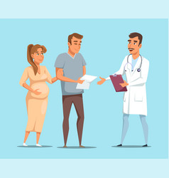 cartoon married couple on doctors consultation vector image