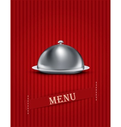 Catering tray menu background vector