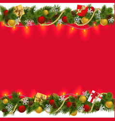 Christmas Border with Garland 2 vector