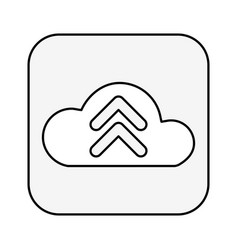 Cloud computing with arrow upload isolated icon vector