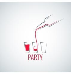 cocktail shot glass bottle background vector image