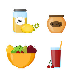 collection food infographic elements vector image