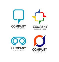 Company logo set template design vector