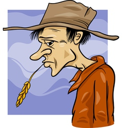 Country farmer cartoon vector