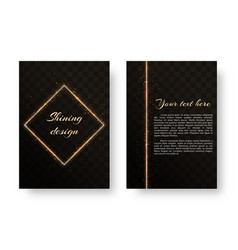 cover with gold sparkles vector image