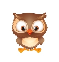 Cute Funny Brown Owl vector image