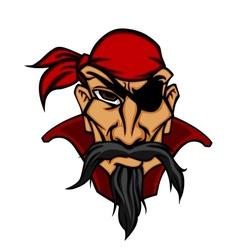Danger pirate in bandana vector image
