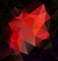 dark red abstract polygon triangular pattern vector image
