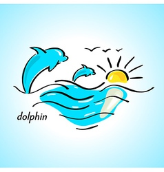 Dolphin sea vector