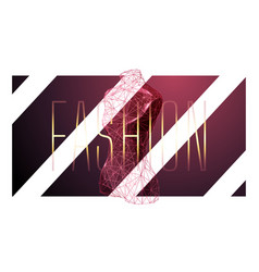 fashion low poly wireframe banner template vector image