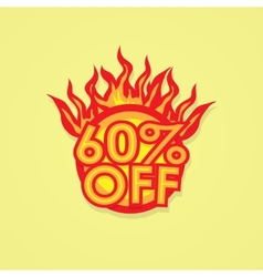 Fiery discount vector image