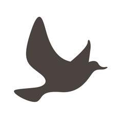 flying silhouette little natural bird icon vector image