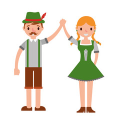 German couple with typical costume vector