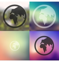 globe icon on blurred background vector image