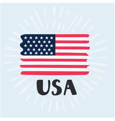 Hand drawn usa flag vector