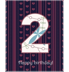 Happy birthday two card vector image