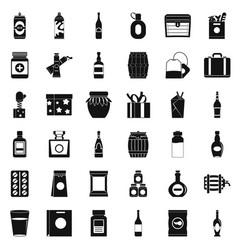 Housing icons set simple style vector