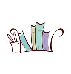 Icon book vector