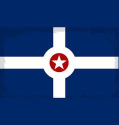 Indianapolis city flag vector