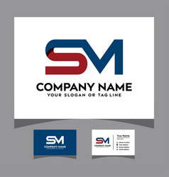 Initials se logo with a business card vector