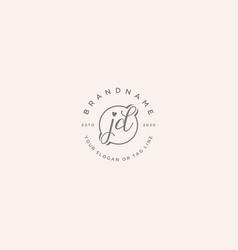 Jd letter feminine logo design vector