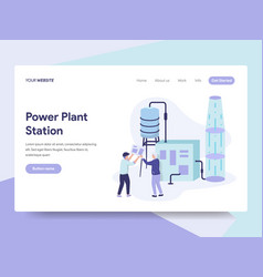 landing page template of power plant station vector image