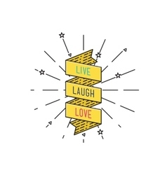 Live laugh love Inspirational vector image