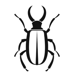 Lucanus cervus icon simple style vector