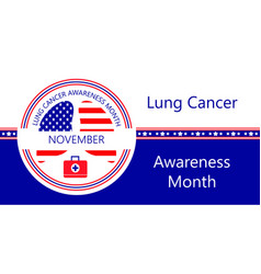 Lung cancer awareness month is organized on vector