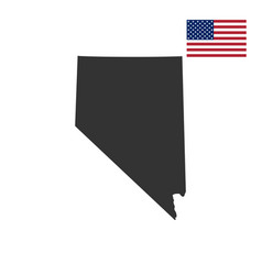 map of the us state of nevada vector image