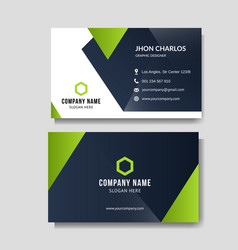 modern green business card vector image