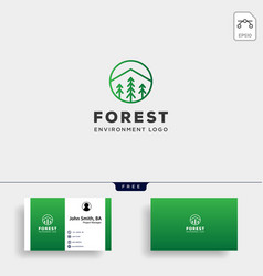 mountain forest nature badge line simple logo vector image