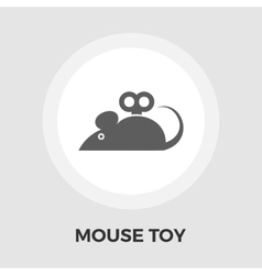Mouse toy flat icon vector image