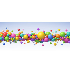 multicolored flying balls background vector image