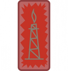 Oil tower vector