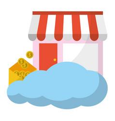 Online store concept vector