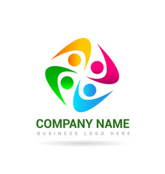 people logo 4 vector image