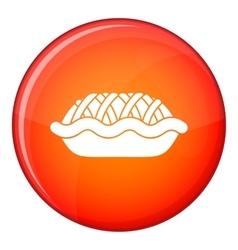 Pie icon flat style vector