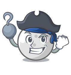 Pirate golf ball character cartoon vector
