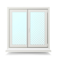 plastic window home window design concept vector image
