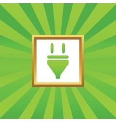 Plug picture icon vector