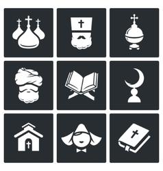 Religion Icon set vector