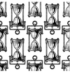 seamless pattern with different hourglass vector image