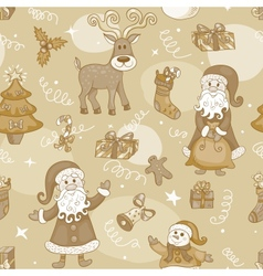 Sepia holiday seamless pattern vector image