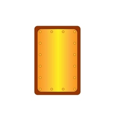 Sign shield gold rectangle 1305 vector image