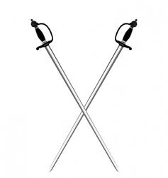 silver swords vector image