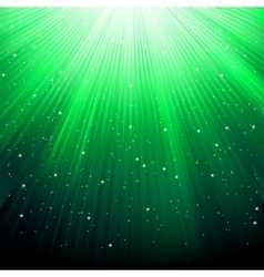 Stars on green striped background vector
