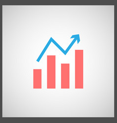 Stock graph icon vector