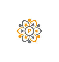 success life coaching letter p vector image